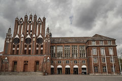 The Gothic facade of the town hall. In Frenkurt on the Oder Royalty Free Stock Images