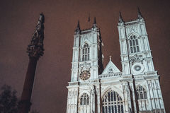Gothic facade of Westminster Abbey Stock Photography
