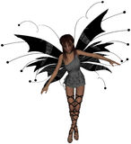 Gothic Fairy Standing. Beautiful gothic fairy leaning forwards Stock Image