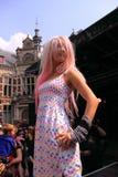 Gothic fashion catwalk stock images