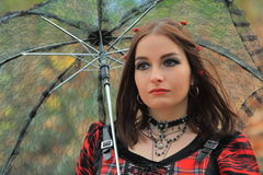 Gothic fashion model Royalty Free Stock Photography