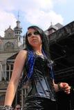 Gothic fashion show stock photography