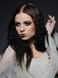 Gothic female face creative make-up Royalty Free Stock Image