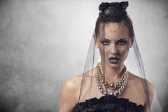 Gothic female with halloween style Stock Image