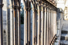 Gothic fence. Detail of a fence Gothic style in Girona, Catalonia, Spain Stock Photo
