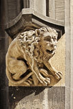 Gothic figure of lion on Town Hall in Marienplatz, Munich, Germa. Stony gothic figure of lion on Town Hall in Marienplatz, Munich, Germany Royalty Free Stock Images