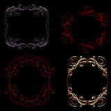 Gothic Filigree Frames vector illustration