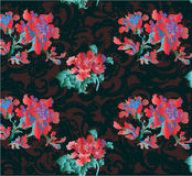 Gothic flower background Stock Images
