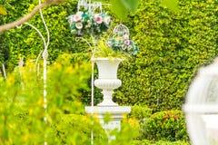 Gothic flower pot in garden. Stock Photography