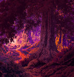 Gothic Forest. Image from an original painting by Larry Jacobsen. / MF-005 vector illustration