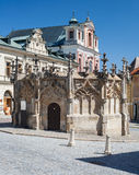 Gothic Fountain in Kutna Hora, Czech Republic. Royalty Free Stock Image