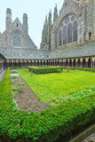 The Gothic gallery of St. Michael monastery. Mont Saint-Michel, Royalty Free Stock Photos