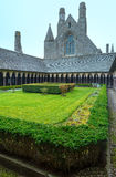 The Gothic gallery of St. Michael monastery. Mont Saint-Michel, Royalty Free Stock Photo