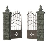 Gothic gate. 3D render of a gothic gate vector illustration