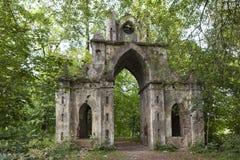 Gothic Gate manor Demidov. Thais. Leningrad region. Russia. Royalty Free Stock Photo