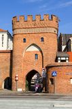 Gothic gate in Torun, Poland. Stock Photography