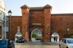 Gothic gate in Torun, Poland. Royalty Free Stock Photo
