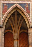 Gothic gates. The southern gates of St.Vitus cathedral in Prague stock images