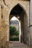 Gothic gateway . Tours. France Stock Images