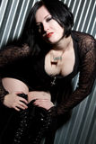 Gothic Girl. Beautiful gothic girl wearing black Royalty Free Stock Photo