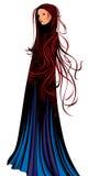 Gothic girl. Stylized vector illustration, layered Royalty Free Stock Images