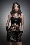 Gothic girl. Beautiful gothic girl studio portrait royalty free stock photo