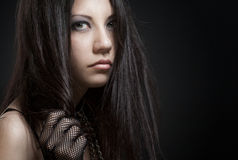 Gothic girl. Beautiful gothic girl studio portrait Stock Photography