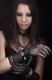 Gothic girl royalty free stock image