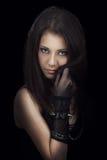 Gothic girl. Beautiful gothic girl studio portrait Stock Images