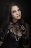 Gothic girl. Beautiful gothic girl studio portrait royalty free stock image