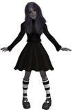 Gothic girl 300 dpi Stock Image