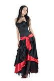 Gothic Girl. Beautiful Gothic Girl wearing black dress Stock Image