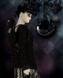 Gothic girl background image Royalty Free Stock Images