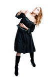 Gothic girl in black dress Stock Photography