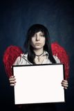 Gothic girl with frame Royalty Free Stock Photos