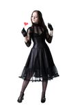Gothic girl with lollipop stock images