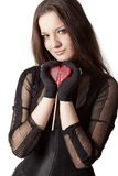 Gothic girl with lollipop Stock Image
