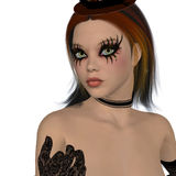 Gothic girl with long lashes Royalty Free Stock Images