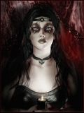 Gothic girl. Portrait of a gothic girl Royalty Free Stock Image