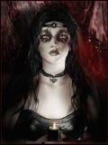 Gothic girl stock illustration