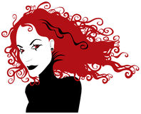 Gothic girl with red hair Stock Images