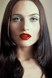 Gothic girl's portrait. Image of an attractive gothic looking girl Royalty Free Stock Image