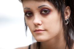 Gothic girl with scars Royalty Free Stock Photos