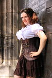 Gothic girl street fashion corset Stock Image