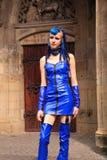 Gothic girl street style royalty free stock photos