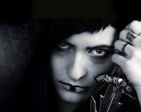 Gothic girl with a sword Stock Photos