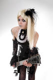Gothic Girl With Artistic Make-up Royalty Free Stock Photo