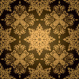 Gothic gold leaf Stock Image