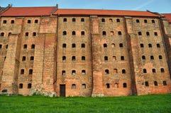 Gothic granary with brick in Grudziadz Royalty Free Stock Photography