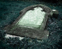 Gothic Grave stone with clear space for text Stock Photos